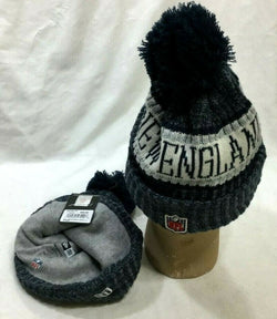 New England Patriots New Era On Field Sideline Grey Winter Knit Hat Beanie (B2)