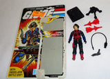 1984 Hasbro GI Joe ARAH Cobra Scrap Iron Figure Cardback Complete Peach Filecard