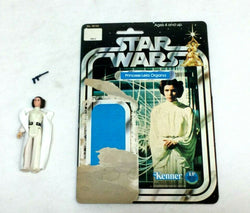 1978 Star Wars Princess Leia Organa White Gown Figure Complete 12 Cardback RARE