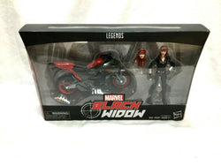 2017 Toys r Us TRU Marvel Legends Black Widow Cycle Motorcycle Bike Boxed Set