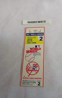 1981 World Series Game 2 Ticket Stub Los Angeles Dodgers Vs New York Yankees