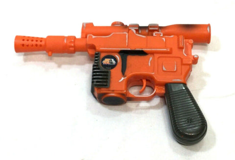 1996 Star Tours Star Wars Han Solo Pistol Gun Blaster Electronic Works Orange