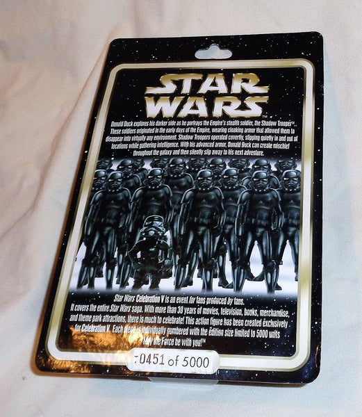 Disney Star Wars Celebration 5 Donald Duck as Shadow Trooper Limited 451- 5000
