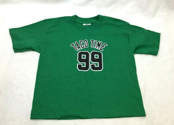 NEW Boston Themed Tacko Fall #99 Taco Time Celtics T Shirt Toddlers Kids Size T2