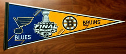 2019 Stanley Cup Finals Boston Bruins St Louis Blues Duel Pennant (R) FREESHIP