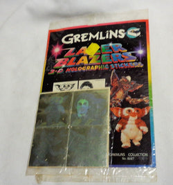 1984 Gremlins Movie Gizmo Lazer Blazers 3-D Holographic Sticker Set FREESHIP