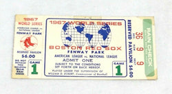 1967 World Series Fenway Game 1 Ticket Stub Boston Red Sox St Louis Cardinals