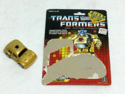 1987 G1 Transformers Throttlebot Goldbug Bumblebee Complete with Cardback Uncut