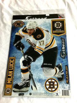 Fathead 17 Inch Sticker Wall Decal Set Boston Bruins Milan Lucic FREESHIP