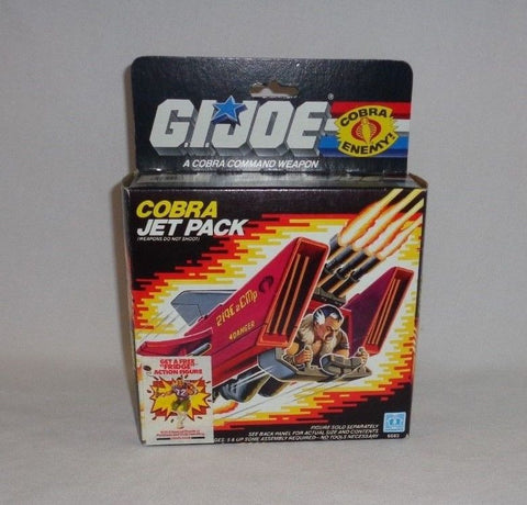 1987 Vintage GI Joe ARAH Cobra Jet Pack Sealed Contents Boxed Mint FREESHIP