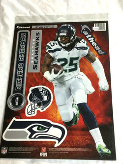 Fathead 17 Inch Sticker Wall Decal Set Seattle Seahawks Richard Sherman FREESHP