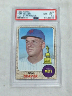 1968 Topps Baseball #45 New York Mets Tom Seaver PSA 8.5 FREESHIP
