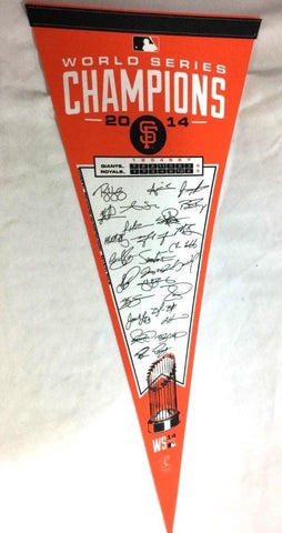2014 World Series Champions Signature Team San Francisco Giants Pennant FREESHIP