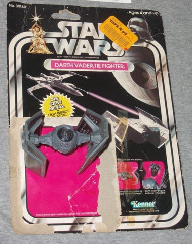 1978 Vintage Star Wars Diecast Darth Vader Tie Fighter 21 Back Cardback Complete