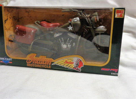 1997 New Ray Indian Motorcycle US Army WWII 1/6 Scale Boxed Sealed FREESHIP