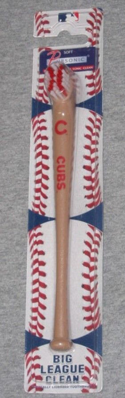 Chicago Cubs Wood Baseball Bat Toothbrush Wrigley Field Travel For World Series