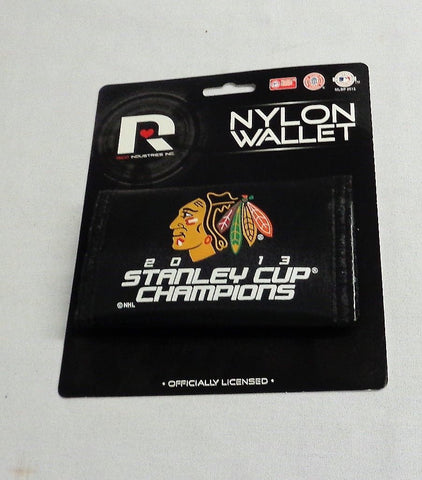 NHL Chicago Blackhawks 2010 Stanley Cup Champions Nylon Tri Fold Wallet FREESHIP