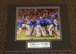 2016 World Series Champions Chicago Cubs Matted Picture 11x14 Celebrate Pile