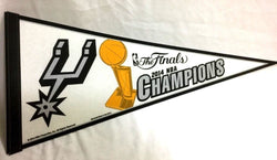 2014 NBA Finals World Champions San Antonio Spurs Pennant FREESHIP