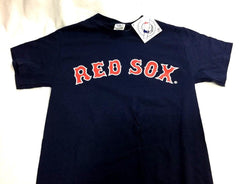NEW Official Boston Red Sox Basic Blue Team Logo T Shirt Mens Small FREESHIP