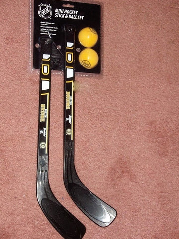 Boston Bruins Mini Plastic Hockey Stick Ball Puck Set Franklin Sports FREESHIP