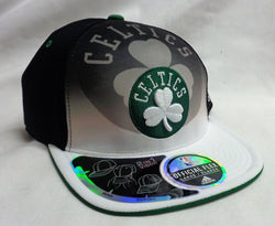 NEW Boston Celtics Adidas Flex Fit Flat Brim Hat Cap Size Small / Medium FREESHP