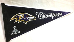 2012 Superbowl 47 World Champions Baltimore Ravens Pennant FREESHIP