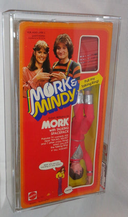 "1979 Mattel Robin Williams Mork & Mindy 9"" Mork Doll Boxed Sealed AFA 80 Mint"