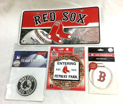 Boston Red Sox Auto Car Emblem Truck License Plate Air Fresher Sticker Lot Pack
