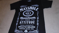 New England Boston Themed Masshole Jack D Logo T Shirt Mens Large FREESHIP