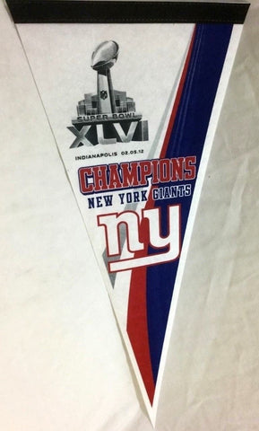 2011 Superbowl 46 World Champions New York Giants Pennant FREESHIP