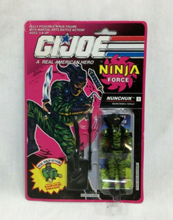 1991 Hasbro GI Joe ARAH Ninja Force Nunchuck Figure MOC Carded Sealed