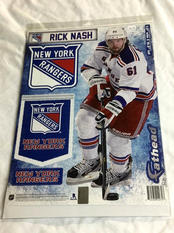 Fathead 17 Inch Sticker Wall Decal Set New York Rangers Rick Nash FREESHIP