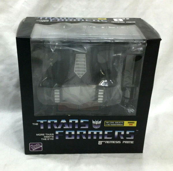 Loyal Subjects Transformers Black Nemesis Prime 8 Inch Vinyl Figure Boxed Sealed