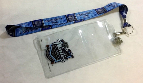2016 Winter Classic Ticket Holder Lanyard Boston Bruins Montreal Canadeins