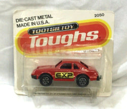 1982 Vintage Tootsie Toy Toughs Red X-ll Citation Car Diecast Carded MOC Sealed