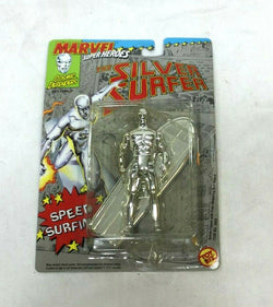1992 Toybiz Marvel Super Heroes Silver Surfer Speed Surfing Figure MOC Carded