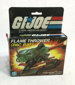 1983 Vintage GI Joe ARAH Flame Thrower Pac Rat Complete Boxed Instructions