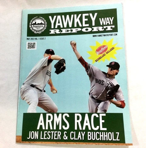May 2013 Yawkey Way Report Red Sox Program Magazine Lester Buchholz Arms Race