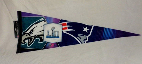 Superbowl 52 New England Patriots Philadelphia Eagles Duel Pennant FREESHIP