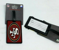 NFL San Francisco 49ers Luggage Tag Travel Bag ID Golf Tag FREESHIP