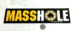 New England Boston Bruins Themed Masshole Bumper Sticker Decal 10 Inch Size