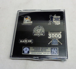 July 2011 New York Yankees Derek Jeter 3000 Hit Milestone 5 Pin Set FREESHP