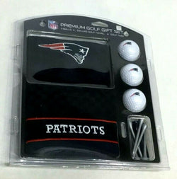 New England Patiots Golf Gift Set with Embroidered Towel Ball Tees Brady FREESHP