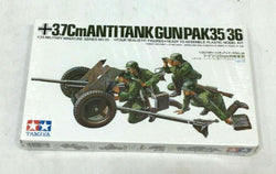 NEW Tamiya WWII German 3.7cm. Pak 35/36 AntiTank Gun Model Kit 1/35 Scale