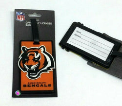 NFL Cincinnati Bengals Luggage Tag Travel Bag ID Golf Tag FREESHIP
