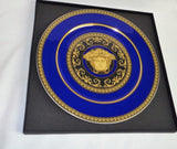 Rosenthal Versace Medusa Blue Charger Service Plate 12 Inch Mint Boxed FREESHIP