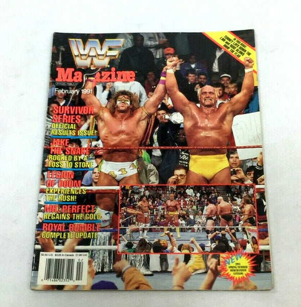 Feb 1991 WWF Magazine Book Hulk Hogan / Warrior Survivor Series Cover FREESHP