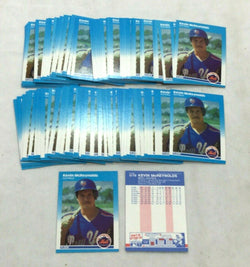 1987 Fleer Update #U78 New York Mets Kevin McReynolds Rookie Rc 100 Card Lot