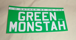 Boston Fenway Park Red Sox Green Monstah Monster Bumper Sticker Sticker Decal